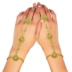Stunning Gold Plated Kundan Work Hand Cuffs1998