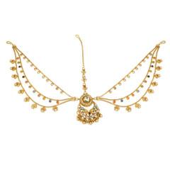 Stunning Gold Plated Maang Tikka1987