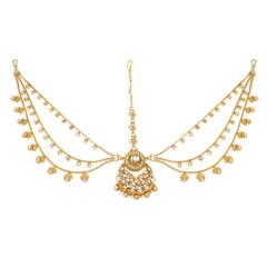 Stunning Gold Plated Pearl Work Maang Tikka1988
