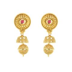 Stunning Gold Plated Stoen Work Earrings2003