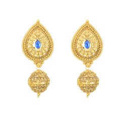Stunning Gold Plated Leave Pattern Earrings2005