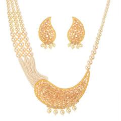 Stunning Gold Plated Royal Look Necklace Set2033