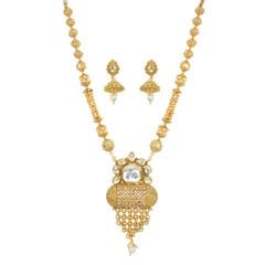 Stunning Gold Plated Designer Necklace Set2038
