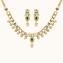 Stunning Gold Plated Kundan Work Necklace Set2045