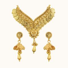 Stunning Heart Shape Gold Plated Mangal Sutra Set1970