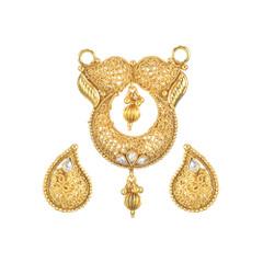Stunning Designer Gold Plated Mangal Sutra Set1976