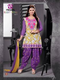 Elegant Purple Cotton  Patiala Salwar Kameez208