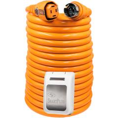 SmartPlug 50 Amp 50 Dual Configuration Cordset w/Marina Twist-Type Connector  50 Amp Non-Metallic Inlet - White [C50504BM50PW]