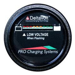 Dual Pro Battery Fuel Gauge - DeltaView Link Compatible - 12V System (1-12V Battery, 2-6V Batteries) [BFGWOV12V]