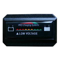 Dual Pro Battery Fuel Gauge - DeltaView Link Compatible - Rectangle - 36V System (3-12V Battery, 6-6V Batteries) [BFGWOVR36V]