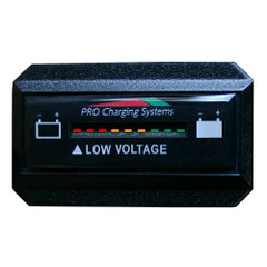 Dual Pro Battery Fuel Gauge - DeltaView Link Compatible - Rectangle - 72V System (6-12V Batteries, 12-6V Batteries, 9-8V Batteries) [BFGWOVR72V]