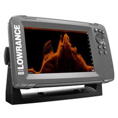 """Lowrance HOOK²-7x 7"""" GPS SplitShot Fishfinder w/Track Plotter Transom Mount SplitShot Transducer [000-14020-001]"""