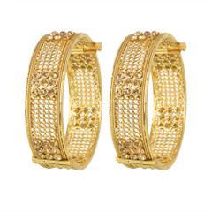Stunning Gold Plated Stone Work Kada2401