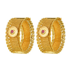 Stunning Gold Plated Ruby Kada2404
