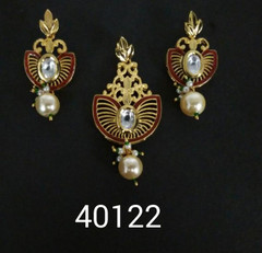 Stunning Gold Plated Antique Look Pendant Set2413