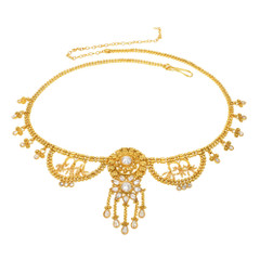 Stunning Gold Plated Necklace Style Waistbelt2155