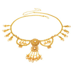 Stunning Gold Plated Necklace Style Waistbelt2158
