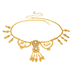 Stunning Gold Plated Necklace Style Waistbelt2159