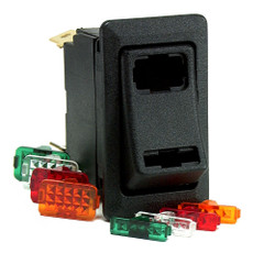 Cole Hersee Lighted Rocker Switch SPDT On-Off-On 4 Blade [58328-103-BP]