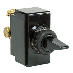 Cole Hersee Standard Toggle Switch SPST On-Off 2 Screw [54100-BP]