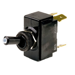 Cole Hersee Lighted Tip Toggle Switch SPST On-Off 4 Blade [M-54111-01-BP]