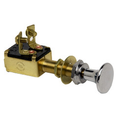 Cole Hersee Push Pull Switch SPST Off-On 2 Screw [M-628-BP]