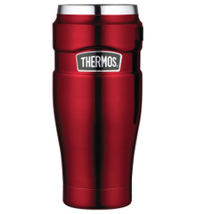 Thermos Stainless King Vacuum Insulated Travel Tumbler - 16 oz. - Stainless Steel/Cranberry [SK1005CRTRI4]