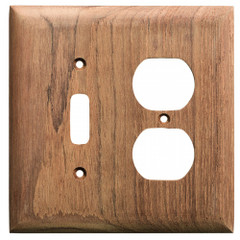 Whitecap Teak Toggle Switch/Duplex/Receptacle Cover Plate [60178]