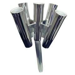Tigress Five Rod Cluster - Bent Butt - Polished Aluminum [88157-2]