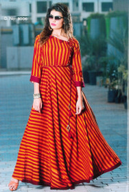 Gorgeous Orange and Red Rayon Kurti Top3914
