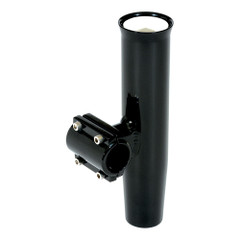 "Lees Clamp-On Rod Holder Horizontal Mount - Aluminum - Pipe Size #5 - 2.375"" - 2-3/8"" OD - Black [RA5205BK]"