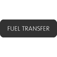 "Blue Sea Large Format Label - ""Fuel Transfer"" [8063-0211]"