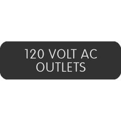 "Blue Sea Large Format Label - ""120 Volt AC Outlets"" [8063-0006]"