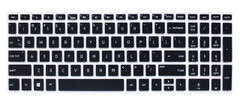 """Keyboard Protector Skin Cover for HP Pavilion 15.6"""" 2018 New Series,HP Pavilion x360 15-BR075NR,HP Pavilion 15-BS 15-BW 15-CC 15-CB 15-CD,HP Envy x360 15M-BP 15M-BQ,17.3"""" HP Envy 17M 17-BS - Black"""