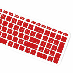 """Keyboard Protector Skin Cover for HP Pavilion 15.6"""" 2018 New Series,HP Pavilion x360 15-BR075NR,HP Pavilion 15-BS 15-BW 15-CC 15-CB 15-CD,HP Envy x360 15M-BP 15M-BQ,17.3"""" HP Envy 17M 17-BS - Red"""