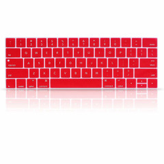 """Keyboard Protector Cover Skin for Apple MacBook Pro with Touch Bar Retina 13"""" and 15"""" (Model A1706, A1707, 2016 2017 2018 Released) - Red"""