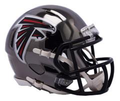 Atlanta Falcons Helmet Riddell Replica Mini Speed Style Chrome Alternate