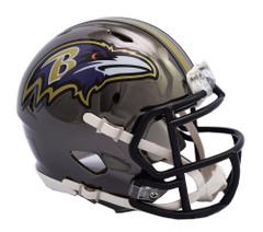 Baltimore Ravens Helmet Riddell Replica Mini Speed Style Chrome Alternate