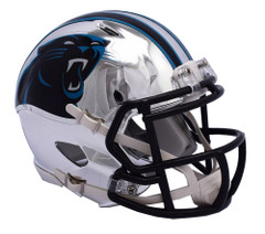 Carolina Panthers Helmet Riddell Replica Mini Speed Style Chrome Alternate