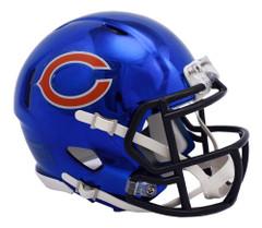 Chicago Bears Helmet Riddell Replica Mini Speed Style Chrome Alternate