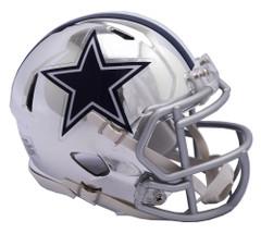 Dallas Cowboys Helmet Riddell Replica Mini Speed Style Chrome Alternate