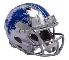 Detroit Lions Helmet Riddell Replica Mini Speed Style Chrome Alternate