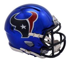 Houston Texans Helmet Riddell Replica Mini Speed Style Chrome Alternate
