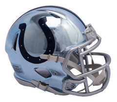 Indianapolis Colts Helmet Riddell Replica Mini Speed Style Chrome Alternate