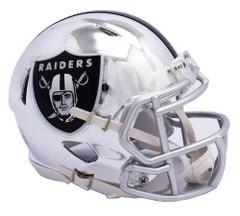 Oakland Raiders Helmet Riddell Replica Mini Speed Style Chrome Alternate