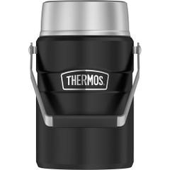 Thermos Food Jar - 47oz - Stainless Steel/Matte Black [SK3030BKTRI4]