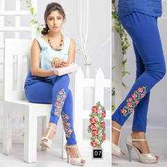 Magnificent Royal Blue Cotton Leggings747