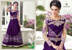 Purple Shaded Designer Lehenga