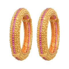 Magnificent Gold and Ruby Bangles2041