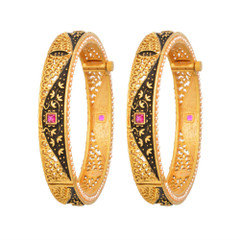 Magnificent Gold, Pearl and Ruby Bangles2044